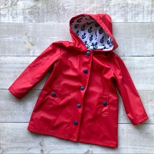 HATLEY red with anchors raincoat   red blue size 5